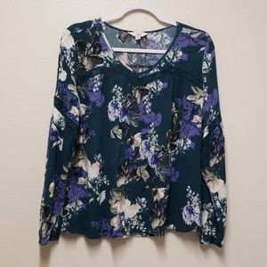 BB Dakota Floral Peasant Top